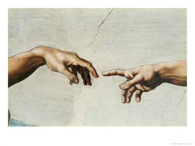 Michelangelo Buonarroti The-creation-of-adam-detail-of-gods-and-adams-hands-from-the-sistine-ceiling-giclee-print-c129738581